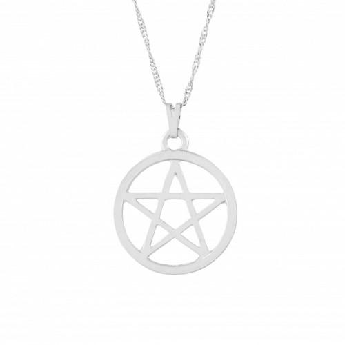 Gargantilha Pentagrama (Ródio) 5626