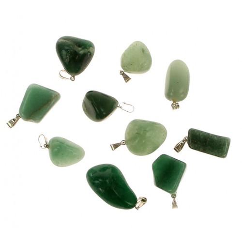 Pingente em Quartzo Verde (Preço Unitário)