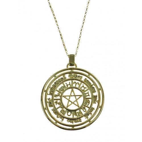 Roda do Ano Sabbats (Folheada Ouro)