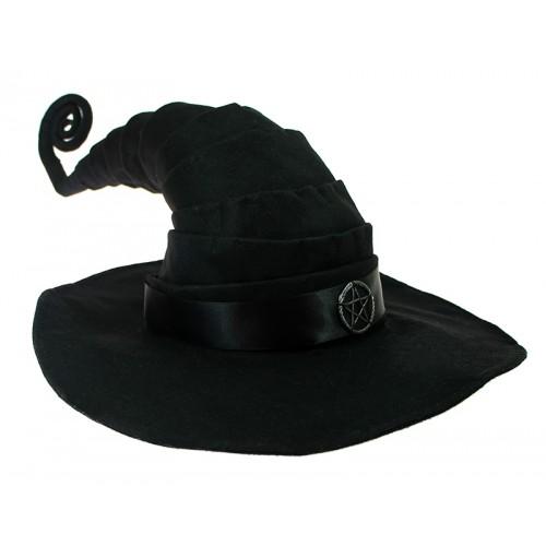 Chapéu de Bruxa Preto Pentagrama